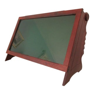 Antique Wood and Glass Mercantile Display Case -Sandford's Inks For Sale