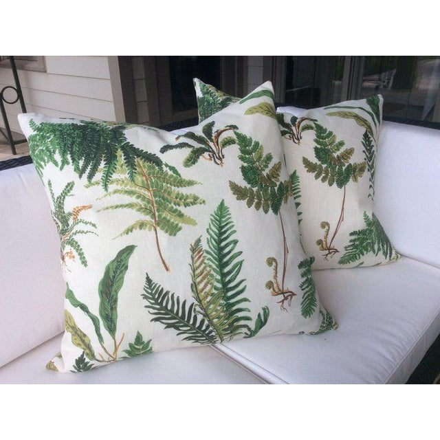 """Always a classic! Schumacher's """"Fougeres"""" is a beautiful botanical fabric sourced directly from Schumacher's Elsie de..."""