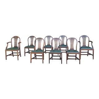 Early 20th Century Antique Hepplewhite Dining Chairs - Set of 8 For Sale