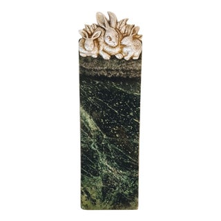 1980s Arthur Court Green Marble Cheeseboard For Sale