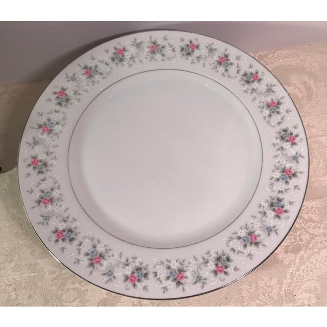 """Japanese China """"Corsage"""" Dinner Plates - Set of 7 - Image 4 of 6"""
