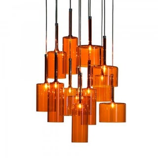 Axo Spillray 12 Light Orange Crystal Chandelier