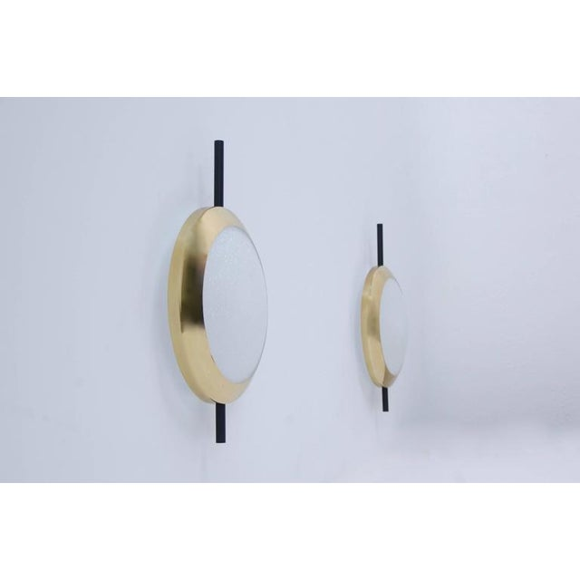 Mid-Century Modern Wall Sconces in the Manner of Stilnovo For Sale - Image 3 of 8
