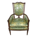 Image of 19th Century Vintage French Louis XVI Wood Arm Chair For Sale