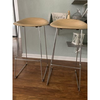 Icf Group Italy Wood Metal Designer Eames Style Bar Stools Preview