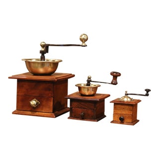 19th Century French Coffee Grinders in Graduated Sizes, Set of Three For Sale