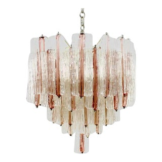 1950s Three Tier Murano Chandelier by Toni Zuccheri For Sale