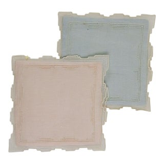 Vintage Deco Organza & Lace Sachets - a Pair For Sale