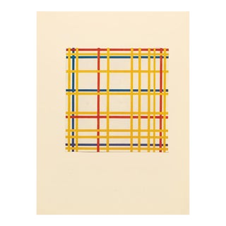 """1958 After Piet Mondrian """"New York City"""" Vintage Full Color Print From England For Sale"""