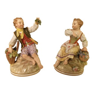 19th Century Meissen Figurines- A Pair For Sale