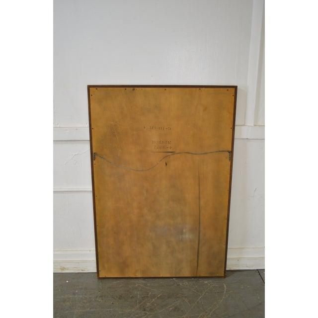 Henredon Henredon Vintage Walnut Frame Rectangular Wall Mirror For Sale - Image 4 of 11