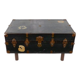 Antique Steamer Trunk Western Rustic Coffee Table
