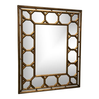 Modern History Home Gilded Faux Bamboo Mirror