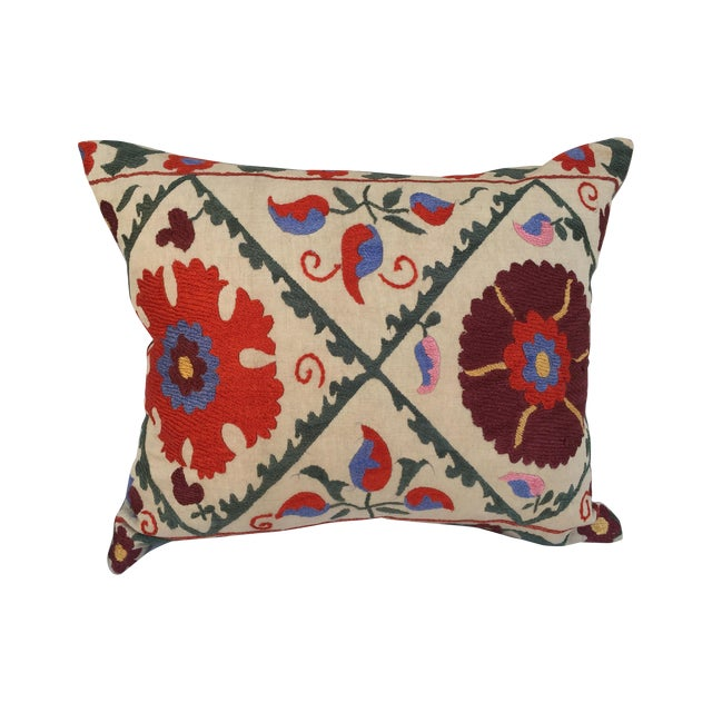 Antique Embroidered Suzani Pillow - Image 1 of 6