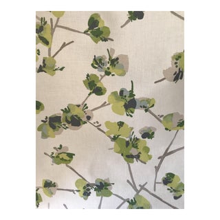 Keiko by Romo Color Cilantro Linen Cotton Blend Fabric - 3 3/8 Yards For Sale