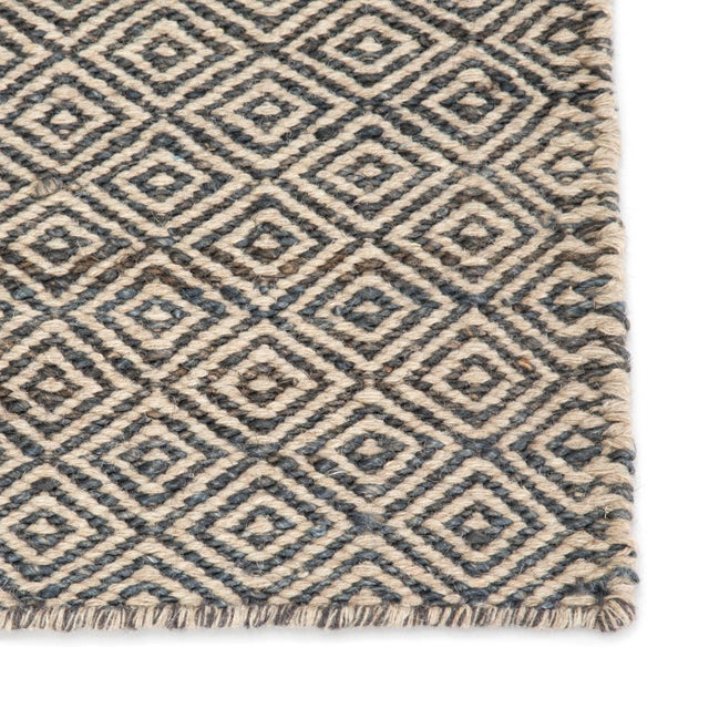 Contemporary Jaipur Living Wales Natural Geometric Gray/ White Area Rug - 9′ × 12′ For Sale - Image 3 of 6