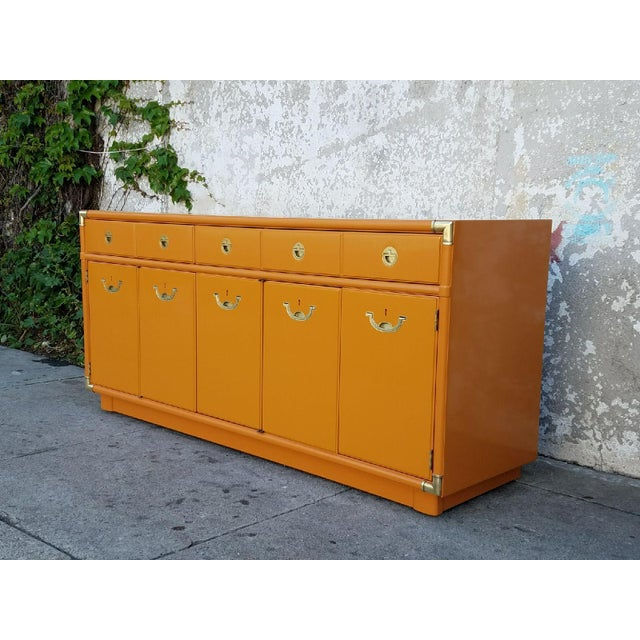 Americana Drexel Almond Credenza Buffet For Sale - Image 4 of 6