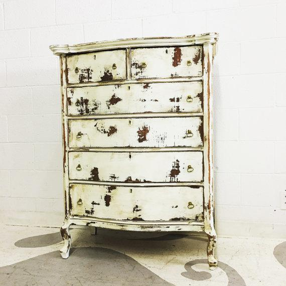 Shabby Chic Dresser in Distressed White - Image 2 of 6