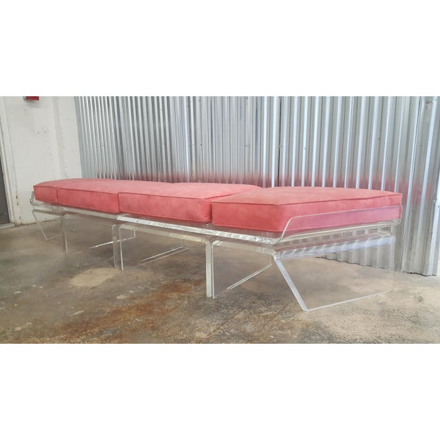 Mid-Century Modern 1970s Vintage Lucite Bench For Sale - Image 3 of 13