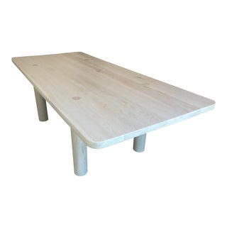 Contemporary Solid White Oak Dining Table For Sale