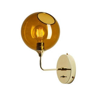 Ballroom the Wall Short Sconce - Amber For Sale