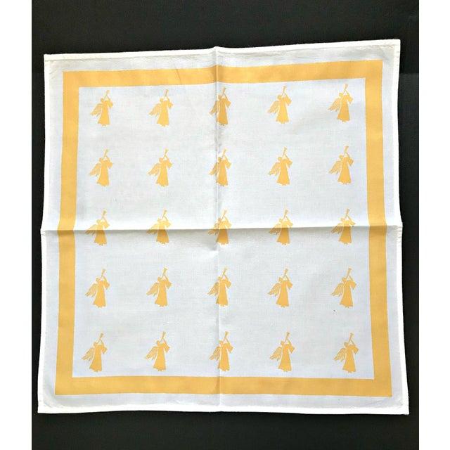 Large Gold White Angel Table Napkins - Set of 4 - Image 3 of 4