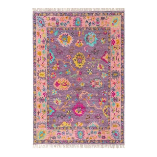 Contemporary Turkish Oushak Rug - 9′ × 12′ For Sale
