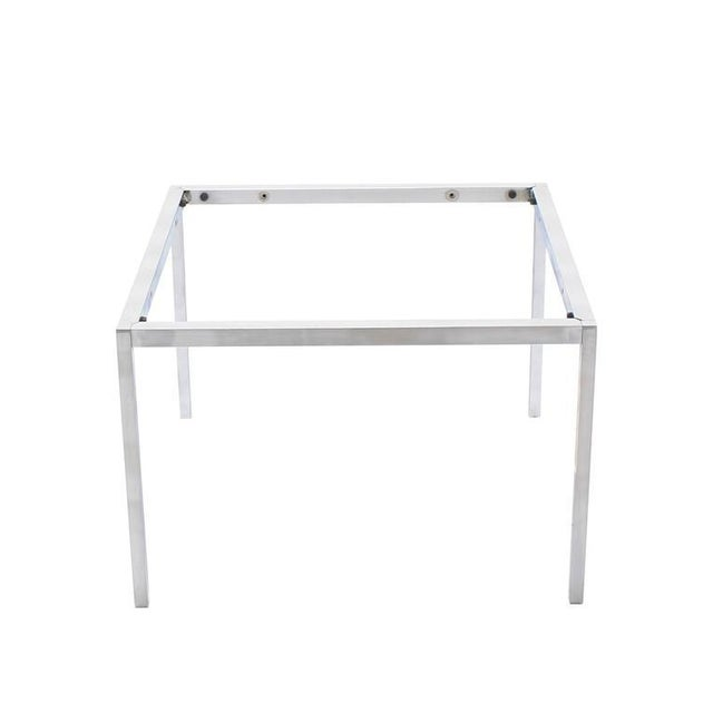 Chrome Solid Chrome Knoll Coffee Table Base For Sale - Image 7 of 7