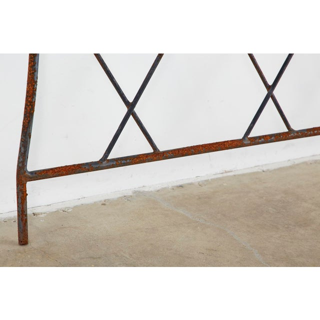 Pair of Regency Style Iron and Bronze Headboards For Sale - Image 10 of 13