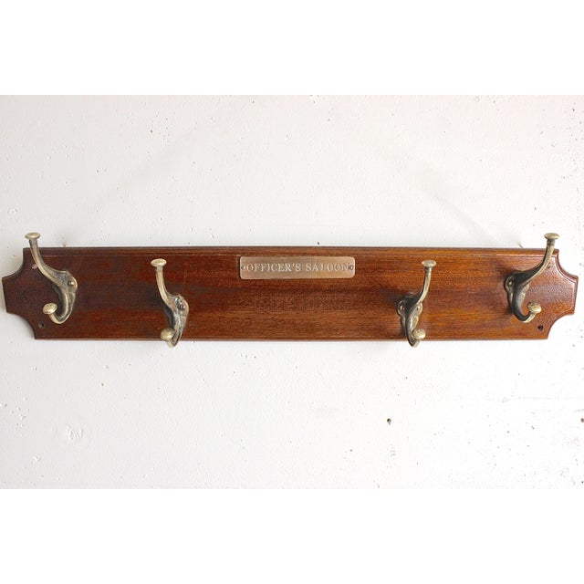 Officer's Saloon Hanging Coat Rack - Image 2 of 4