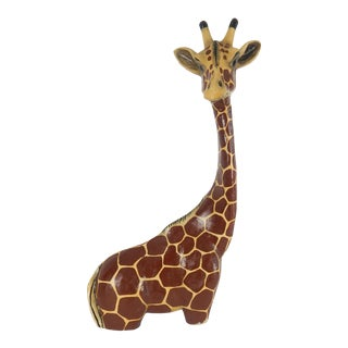 Large Vintage Tonala Sermel Giraffe For Sale