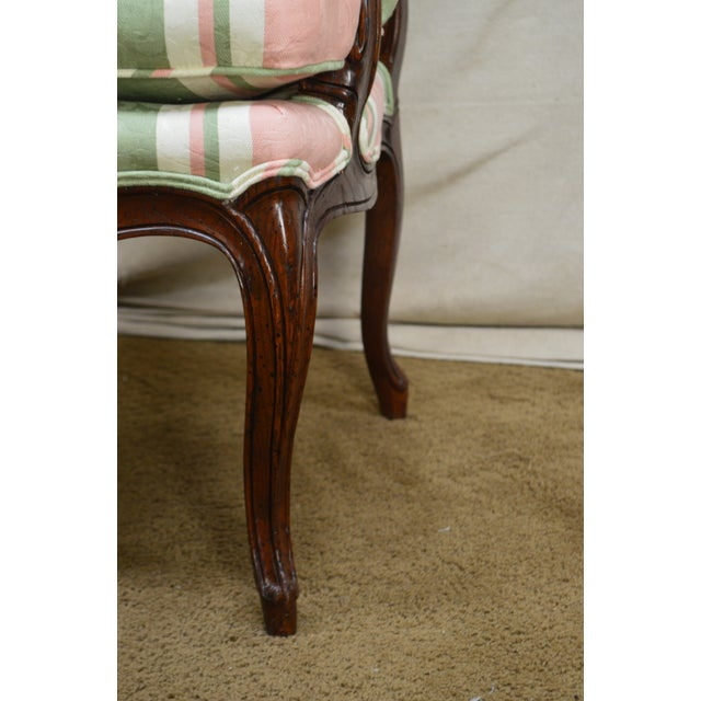 French Louis XV Style Custom Quality Fauteuil Arm Chair For Sale - Image 9 of 13