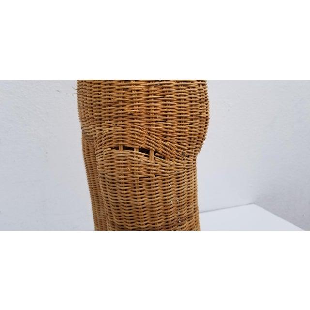 1970s Figurative Wicker Female Mannequin Torso For Sale - Image 11 of 13