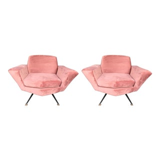 Pair of Armchairs M538 by Studio Apa for Lenzi, Italy, 1960s For Sale