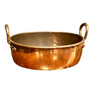 Vintage Copper Roasting Pan With Copper Handles