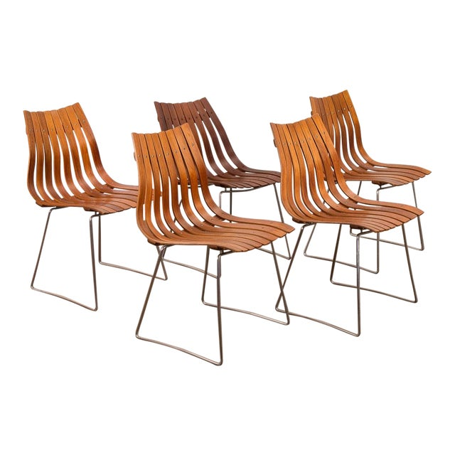 Hans Brattrud Scandia Dining Chairs - Set of 5 For Sale