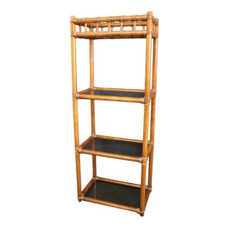 Mid Century Faux Bamboo Etergere For Sale