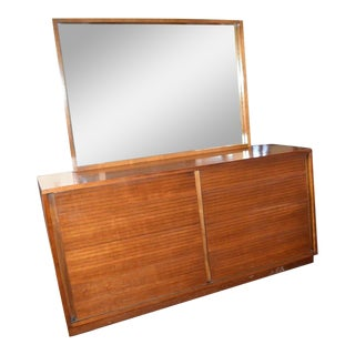 1952 Heritage Henredon Mid Century Cherry Dresser and Mirror For Sale