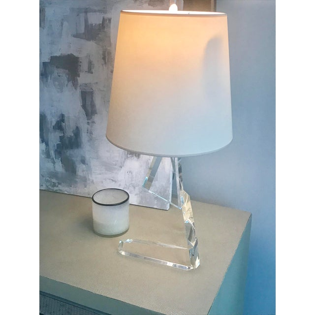 Gorgeous Crystal Visual Comfort Tina Lamp This is a modern piece that would look great on a console table with a mirror or...
