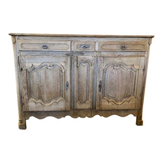 18th Century French Louis XV Style Oak Buffet For Sale