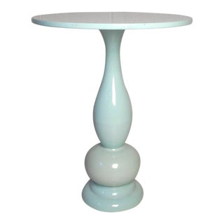 Mid-Century Italian Style Metal Side Table For Sale