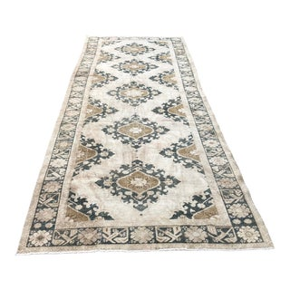1960s Vintage Turkish Traditional Runner-4′9″ × 12′3″ For Sale