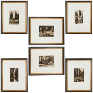 Framed 1920's Photographs of Italian Villas by Kurt Hielscher - Set of 6 For Sale