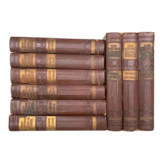 Vintage and Antique Books, the Works of Irvin S Cobb, Mahogany Brown Curated Book Set - 9 Volumes For Sale