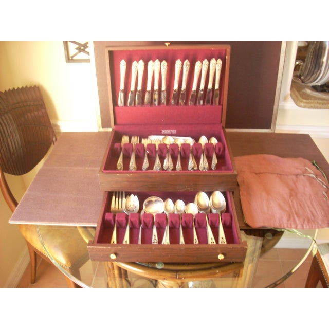 "Baroque International Sterling ""Queen's Lace"" Flatware - 139 Pieces, Service for 12 For Sale - Image 3 of 6"