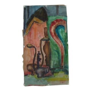 1950s Abstract Mid-Century Modern Painting For Sale