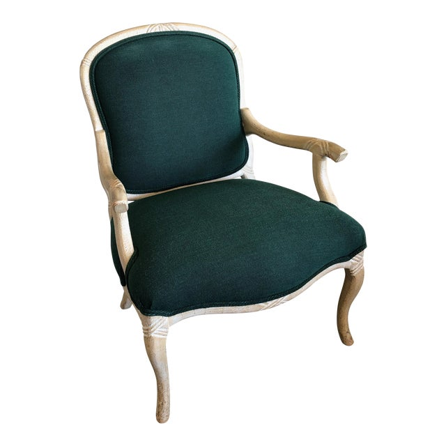 """Contemporary Wood Frame """"Twig-Open Arm"""" French Bergere Chairs For Sale"""
