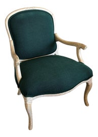 Image of Green Bergere Chairs