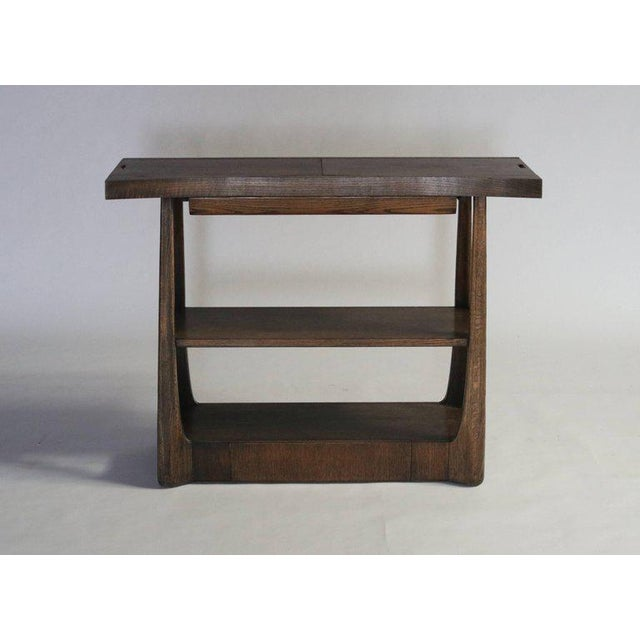 Harold Schwartz server model #M-749 for Romweber Originals in Modern series, 1955 in a walnut stained oak. Top, when...