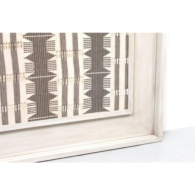 1970s Framed Modernist Textile For Sale - Image 10 of 13
